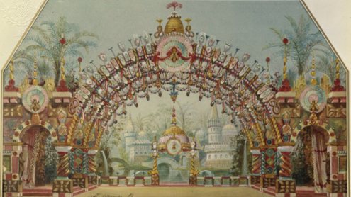 Tchaikovsky, Nutcracker, by Ivanov. Tchaikovsky, Pyotr Ilyich; Russian composer; 1840-1893. Works: The Nutcracker (ballet; libretto by Marius Petipa after E.T.A. Hoffmann. Premiered St.Peterburg 1893.-Stage design.-Watercolour, 1892, by Konstantin Ivanov (1859-1916). On paper. CREDIT akg Images / Universal Images Group Rights Managed / For Education Use Only Tchaikovsky, Nutcracker, by Ivanov.. Photo. Britannica ImageQuest, Encyclopædia Britannica, 25 May 2016. quest.eb.com.00878bk904d8.erf.sbb.spk-berlin.de/search/109_236971/1/109_236971/cite. Accessed 5 Jul 2019.