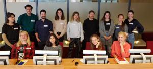 Studierende des Hoffmann-Seminars vom Peter Szondi-Institut für Allgemeine und Vergleichende Literaturwissenschaft der Freien Universität
