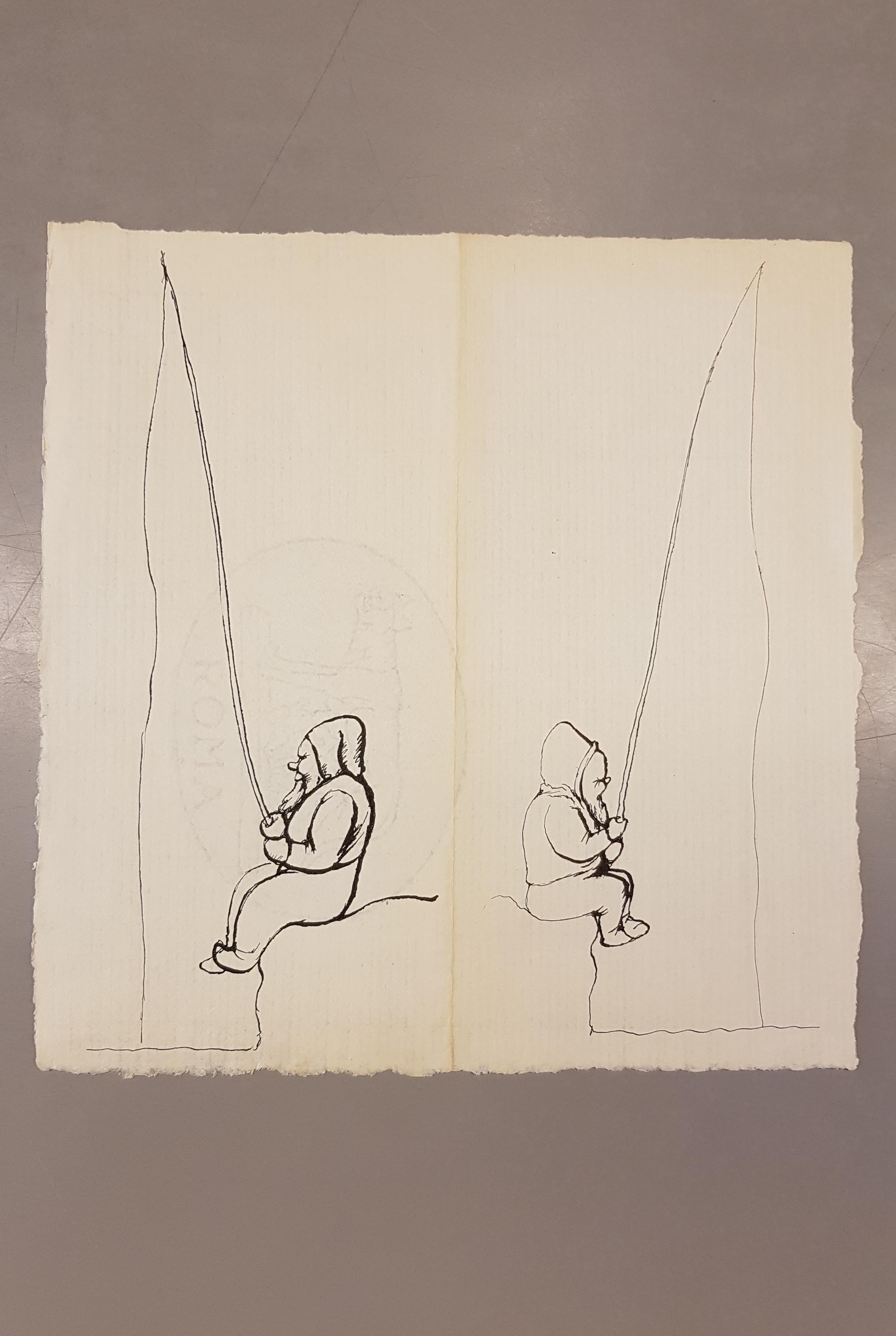 Entführung der Gartenzwerge. Brief von Fritz Fischer. In Copyright.