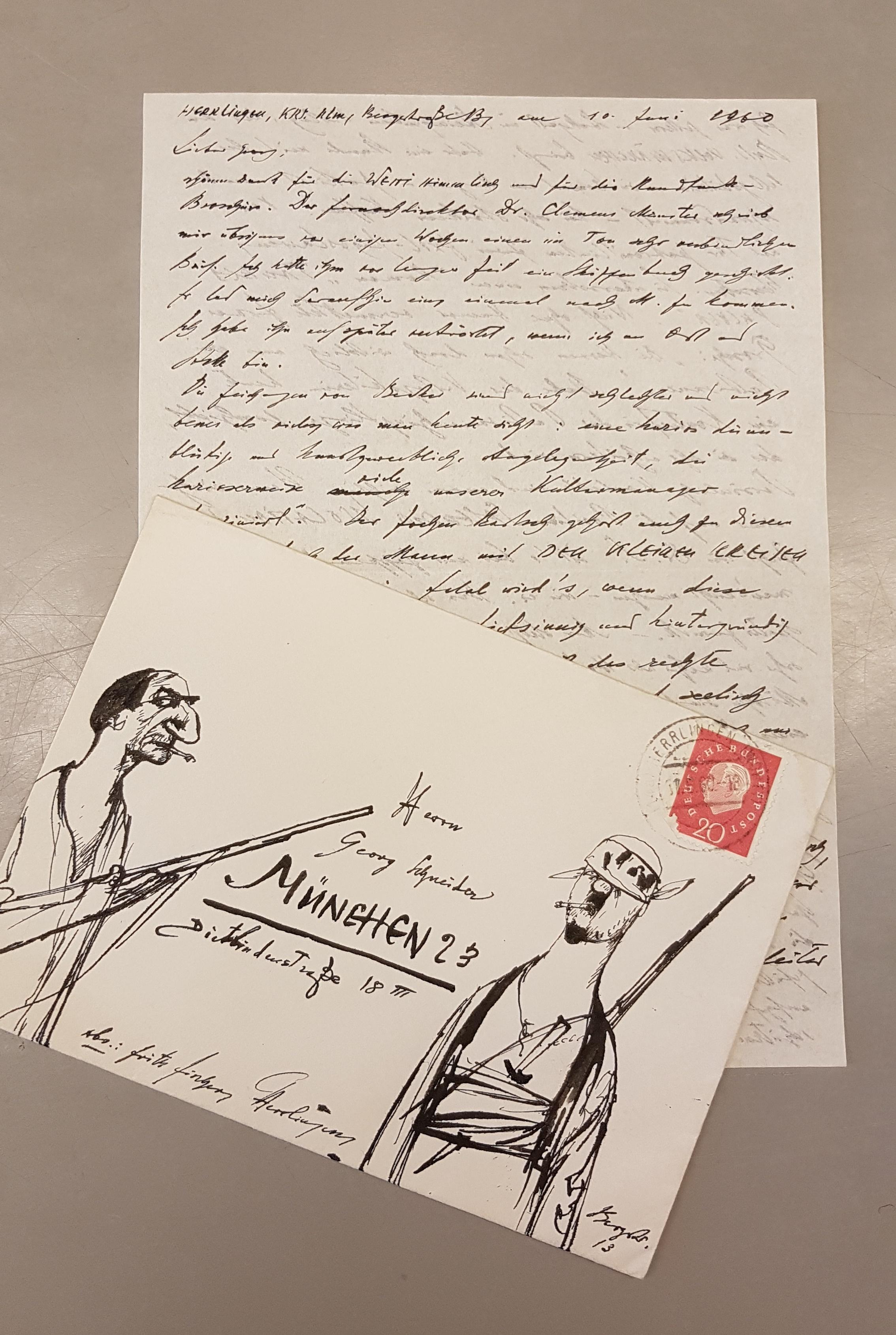 Brief von Fritz Fischer. In Copyright.