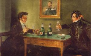 E.T.A. Hoffmann und Ludwig Devrient bei Lutter & Wegner (um 1900).