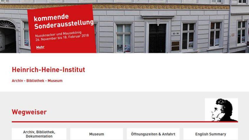 Nussknacker und Mausekönig. Sonderausstellung im Heinrich-Heine-Institut in Düsseldorf.