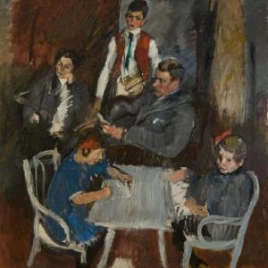 Anton Kolig: Bildnis der Familie Schaukal, 1911 © CC0