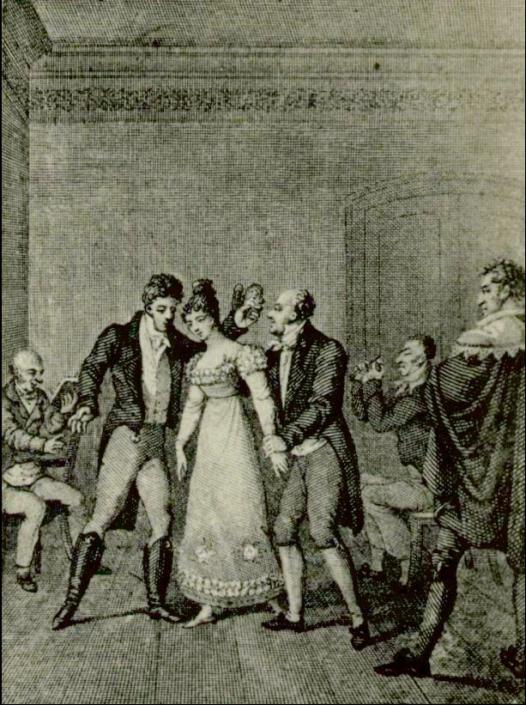 Aus: E.T.A. Hoffmann: Die Brautwahl, in: E.T.A. Hoffmanns sämtliche Werke: historisch-kritische Ausgabe. Bd. 7. Leipzig: Georg Müller 1914, SBB-PK Sign. 26 ZZ 230-7.
