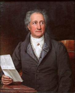 Karl Joseph Stieler: Johann Wolfgang von Goethe im 80. Lebensjahr. 1828. Quelle: https://commons.wikimedia.org/w/index.php?curid=375657