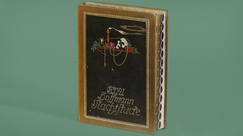 E.T.A. Hoffmann: Nachtstücke. Mit achtundvierzig Zeichnungen von Alfred Kubin. Buchausstattung von Paul Renner. München: Müller 1913. SBB-PK Sign. 50 MA 48847 KD.