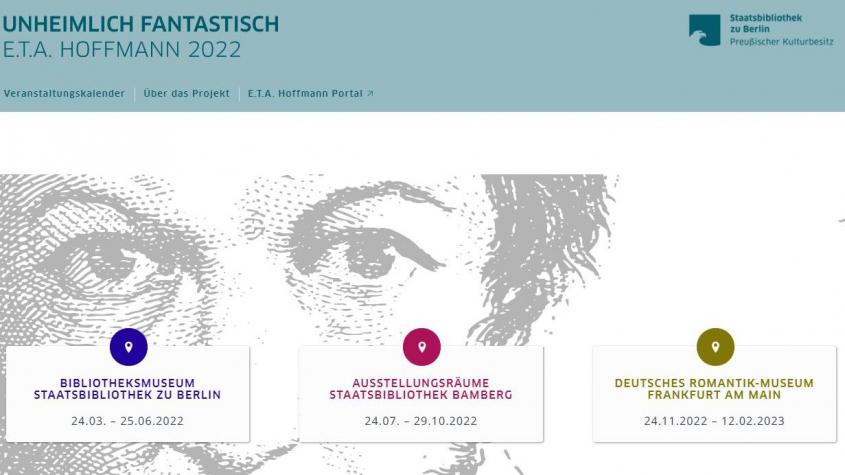 Screenshot Projektwebseite online