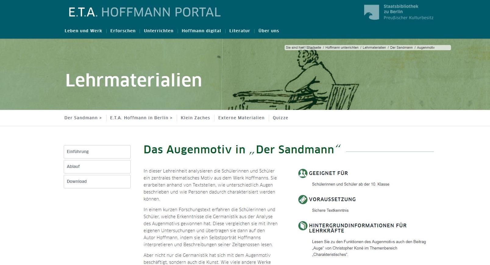 Lehrveranstaltungen An Schule Und Unis Eta Hoffmann Portal