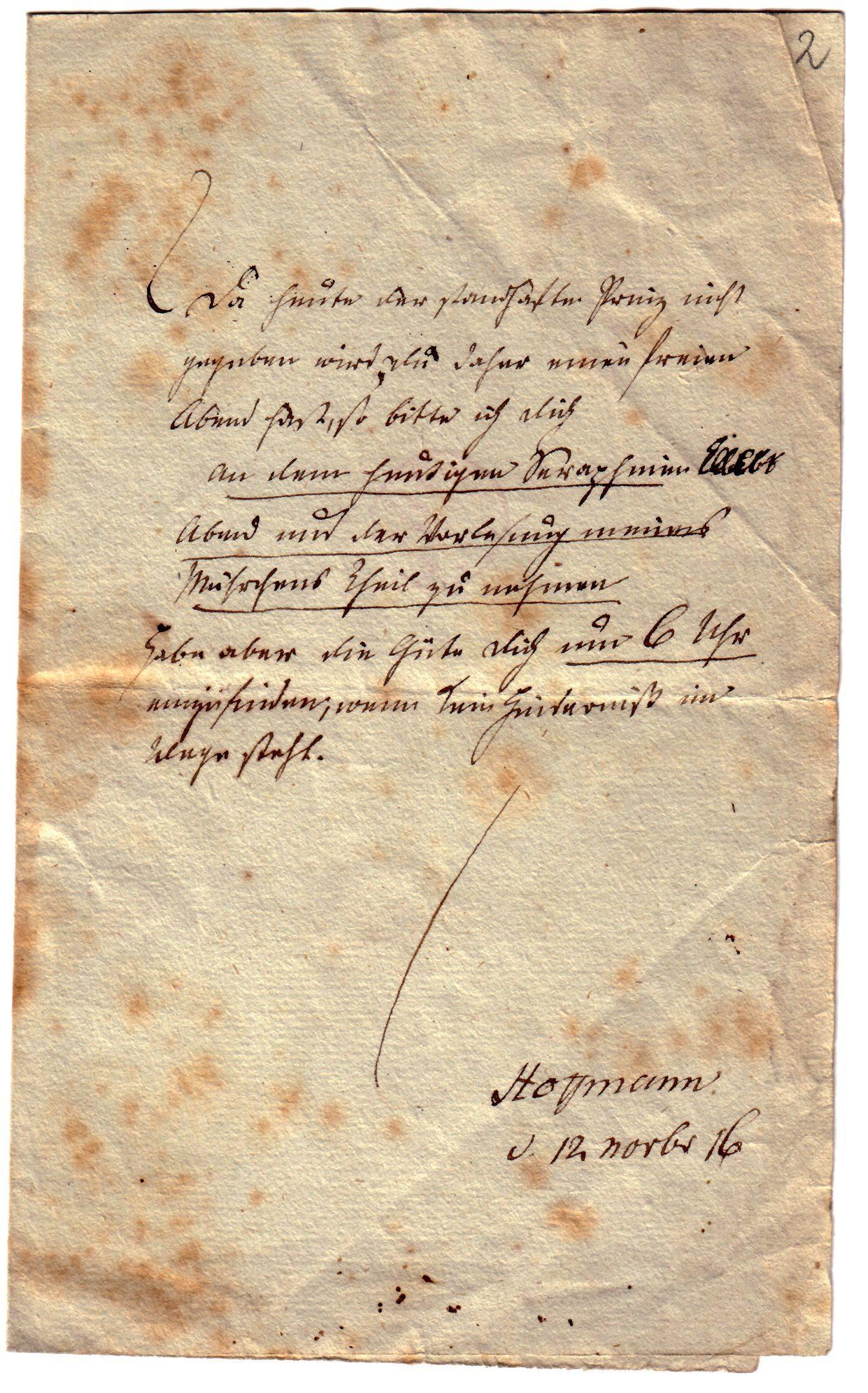 Eta Hoffmanns Briefe Eta Hoffmann Portal