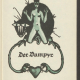 E.T.A. Hoffmann: Der Vampyr, in: ders.: Eine Auswahl seiner Erzählungen. Wien: Verlag der Gesellschaft für graphische Industrie 1923. Illustriert von Franz Wacik. SBB-PK Sign. 50 MA 48879.