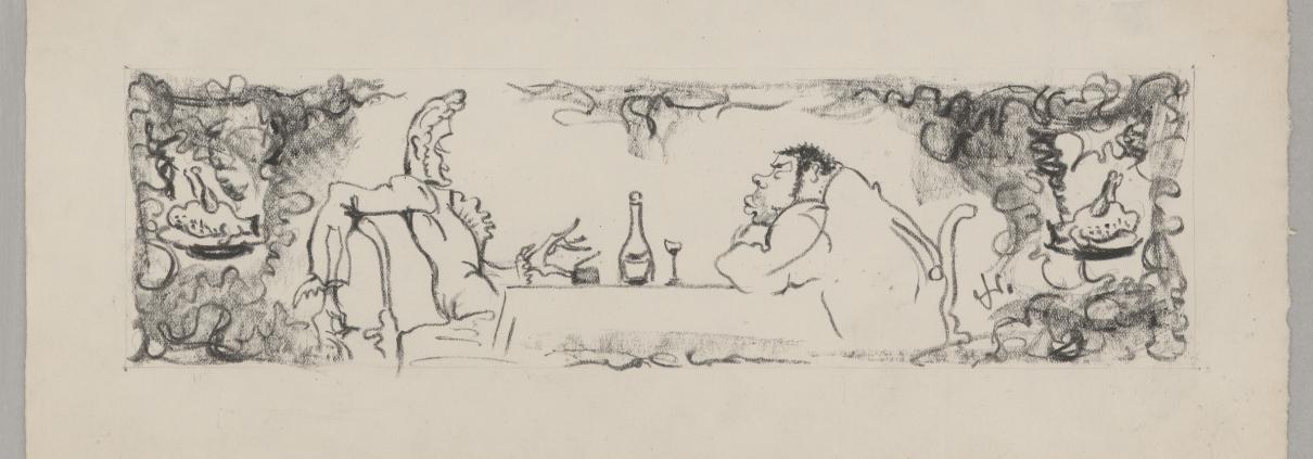 """Wolfgang Schaukal: Zeichnung zu E.T.A. Hoffmann: """"Don Juan"""" © In Copyright"""