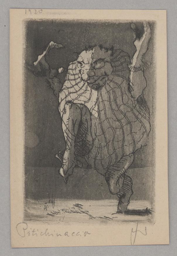 "Wolfgang Schaukal: Lithographie ""Der Zwerg Pitichinaccio"" zu E.T.A. Hoffmann ""Signor Formica"", 1919 © In Copyright"