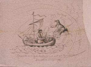Schlemihl segelt zum Nordpol und wird von demselben freundlich empfangen