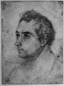 Wilhelm Hensel: Clemens Brentano, Bleistift auf Papier (1819), Copyright: bpk / Kupferstichkabinett, SMB / Jörg P. Anders.